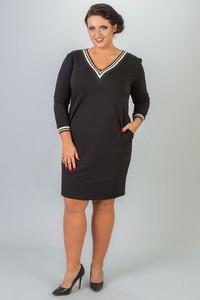 Sukienka KARKO z dresówki oversize z długim rękawem