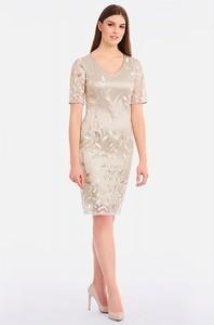 Sukienka Lavard z krótkim rękawem z tiulu