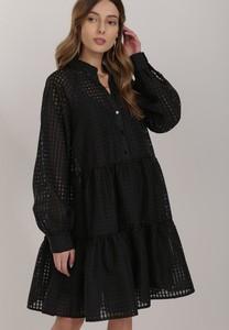 Czarna sukienka Renee z długim rękawem mini