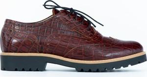 Półbuty Zapato ze skóry w stylu vintage sznurowane