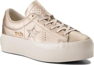 Sneakersy converse - one star platform ox 559924c light gold/light gold/egret