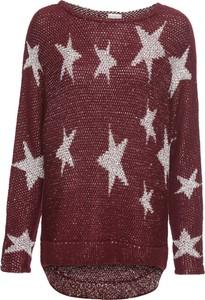 Czerwony sweter bonprix BODYFLIRT