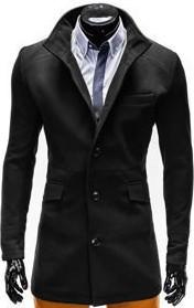 Czarny płaszcz męski Ombre