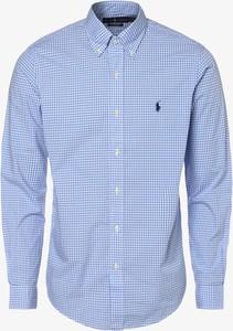 Niebieska koszula POLO RALPH LAUREN z bawełny