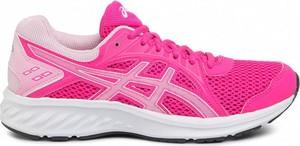 Różowe buty sportowe ASICS z płaską podeszwą