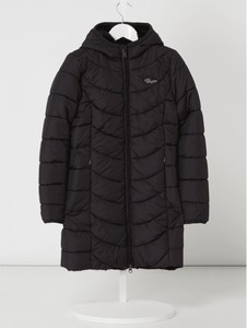 Czarny płaszcz dziecięcy Vingino