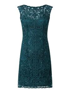 Zielona sukienka Luxuar z okrągłym dekoltem