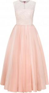 Różowa sukienka Hawrot z tiulu