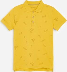 Żółta koszulka dziecięca Reserved dla chłopców z krótkim rękawem