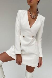 Sukienka IVET mini z dekoltem w kształcie litery v w stylu casual
