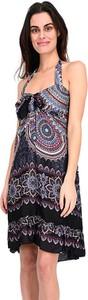 Sukienka Namaste mini z okrągłym dekoltem