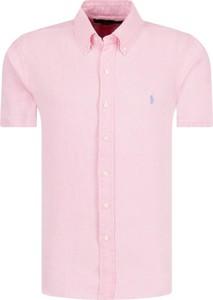 Różowa koszula POLO RALPH LAUREN z lnu