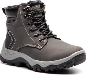 Brązowe buty zimowe Sprandi sznurowane
