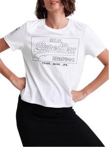 T-shirt Superdry w młodzieżowym stylu z bawełny