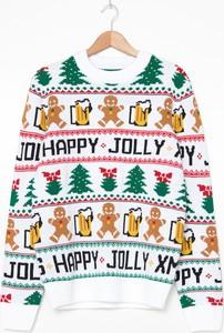 Sweter House w bożonarodzeniowy wzór
