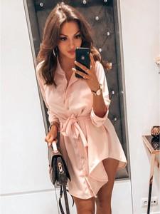 Sukienka magmac.pl mini w stylu casual z długim rękawem