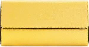 Żółta torebka Wittchen do ręki mała ze skóry