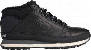Czarne buty new balance sznurowane z nubuku