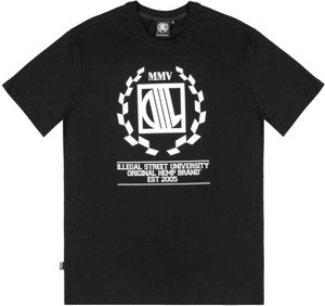 Czarny t-shirt Diil w młodzieżowym stylu