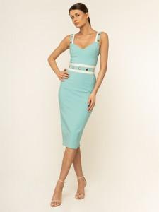 Zielona sukienka Elisabetta Franchi ołówkowa midi
