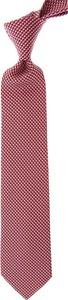 Czerwony krawat Salvatore Ferragamo z jedwabiu