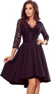 Sukienka NUMOCO mini z długim rękawem z dekoltem w kształcie litery v