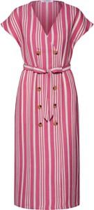 Różowa sukienka Glamorous z krótkim rękawem