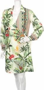 Sukienka 101 Idees mini z długim rękawem z dekoltem w kształcie litery v