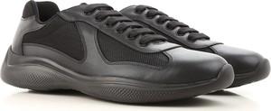 Buty sportowe Prada w młodzieżowym stylu ze skóry
