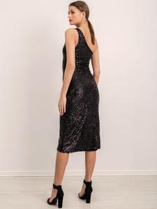 Czarna sukienka Factory Price na ramiączkach midi