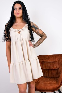 Sukienka Olika z okrągłym dekoltem mini