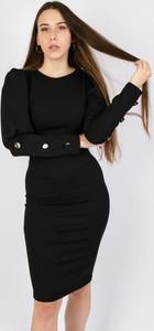 Czarna sukienka Olika midi