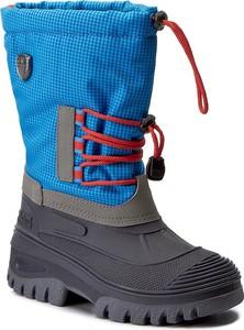 Niebieskie buty dziecięce zimowe cmp z tworzywa sztucznego bez wzorów