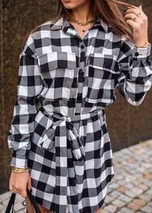 Sukienka Fason z bawełny z długim rękawem koszulowa