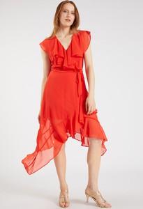 Czerwona sukienka Monnari kopertowa