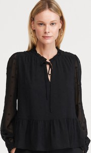 Bluzka Reserved z długim rękawem w stylu casual