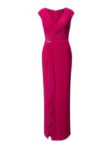 Różowa sukienka Ralph Lauren maxi kopertowa bez rękawów