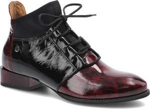 Czarne botki Maciejka z płaską podeszwą w stylu casual