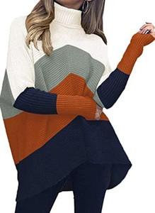 Sukienka Cikelly mini z golfem z długim rękawem