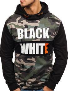 Czarna bluza denley z bawełny moro