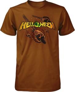 Brązowy t-shirt Emp z krótkim rękawem w młodzieżowym stylu