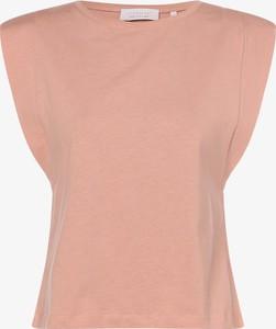 Pomarańczowa bluzka Rich & Royal z krótkim rękawem z bawełny