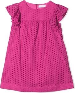 Różowa sukienka dziewczęca Monnalisa