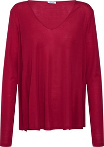 Czerwona bluzka Iheart w stylu casual z długim rękawem