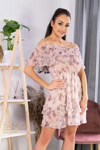 Sukienka MERRIBEL hiszpanka z krótkim rękawem mini