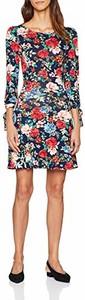 Sukienka amazon.de z okrągłym dekoltem z długim rękawem w stylu casual