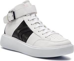Buty sportowe Geox w sportowym stylu ze skóry ekologicznej sznurowane