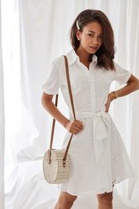 ed858171f biała ażurowa sukienka - stylowo i modnie z Allani