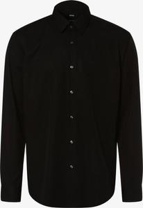 Czarna koszula Boss z bawełny