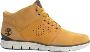 """Żółte buty zimowe Timberland Buty """"bradstreet Chukka"""" sznurowane w stylu casual"""